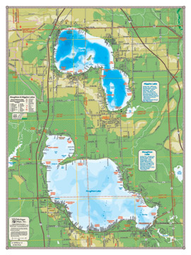 Specialty Wall Maps By Michigan Maps Inc - Michigan lake maps